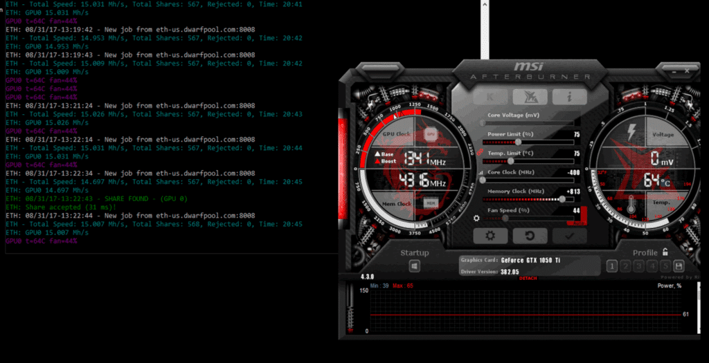 How to overclock, programs and nuances - 1050 Ti