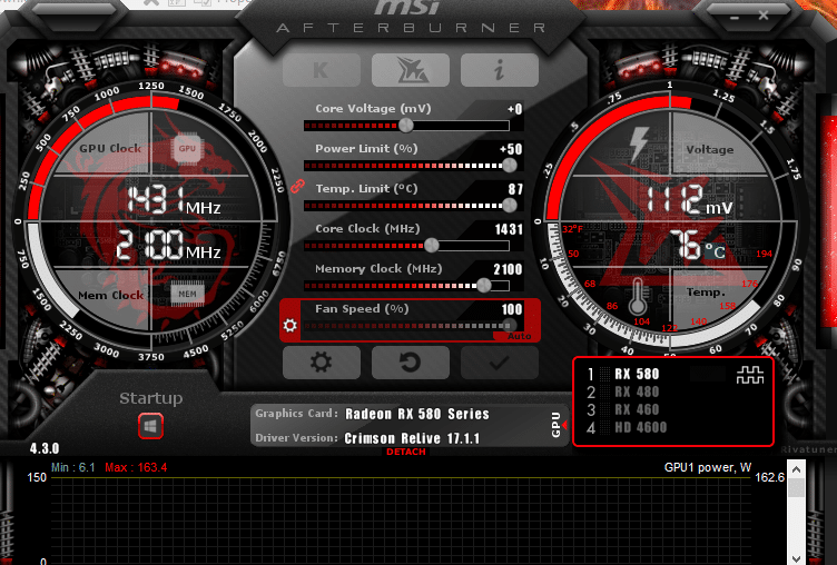 Overclocking and firmware RX 580