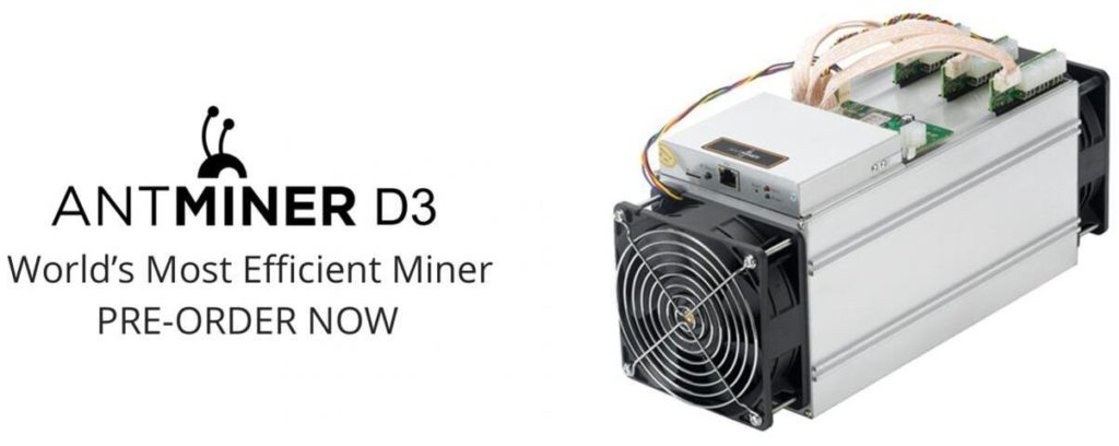 What is a Bitmain Antminer D3  Miner