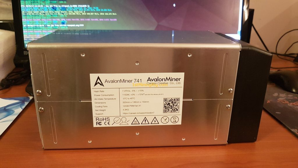 Avalonminer 741 Specifications