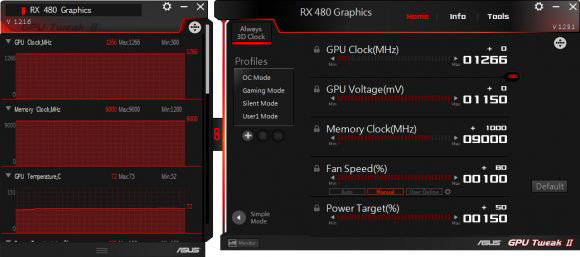 Overclocking the RX 480 in MSI Afterburner