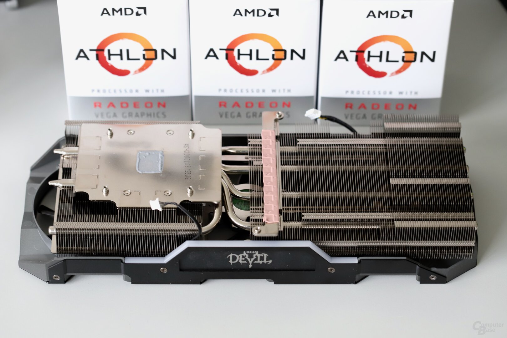 The cooler is identical to the Red Devil XT
