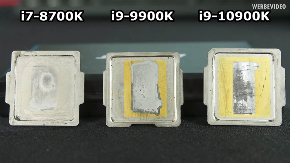 Even with the new design, delidding the Intel Core i9-10900K reduces temperatures by up to 10 °