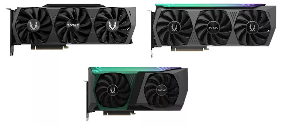 Zotac RTX 3070, 3080, and 3090 Graphics Cards