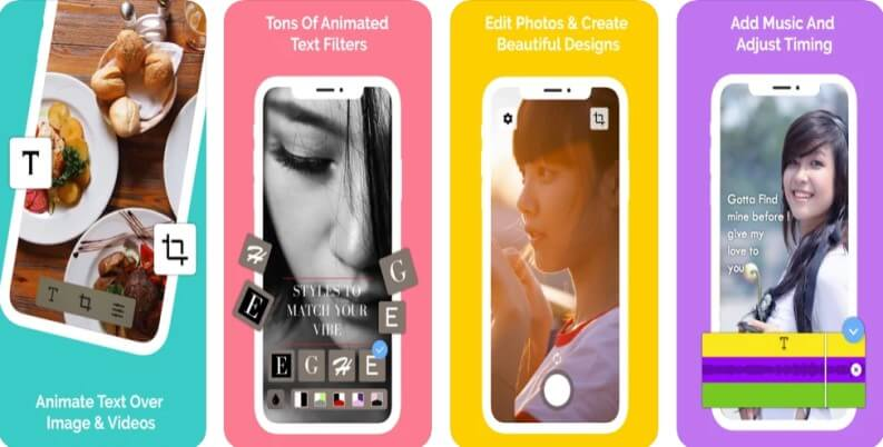 hype text among the best apps to add text to videos: Hype text
