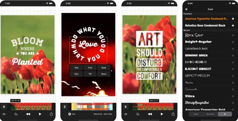 Vont among the best apps to add text to videos