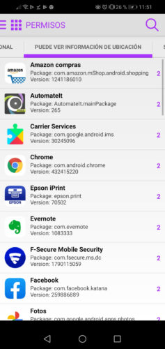 applications permissions location