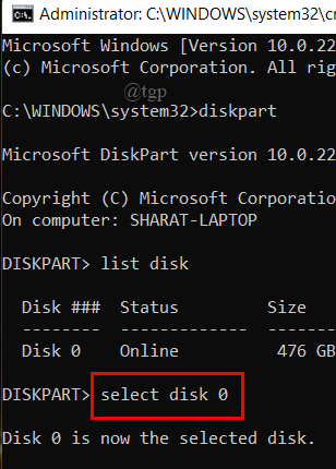 Cmd Select disk
